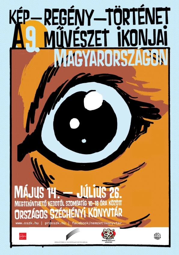 kép-regény-történet kiállítás OSZK 2018